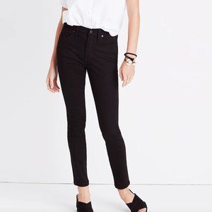 """Madewell 9"""" Mid-Rise Skinny Jeans Black Size 26"""